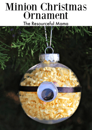 Minion Homemade Christmas Ornament The Resourceful Mama