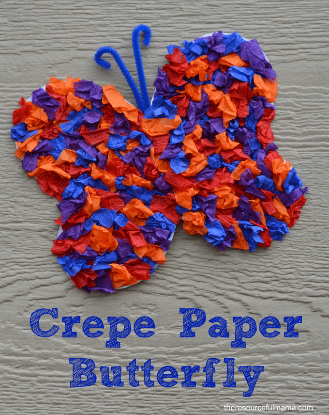 crepe paper butterfly