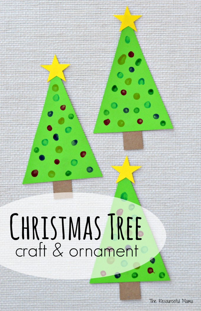 Q Tip Painted Christmas Tree Craft Amp Ornament The