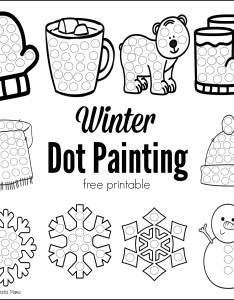 These winter dot painting printables are  great low mess no prep activity for kids this also free printable the resourceful mama rh theresourcefulmama