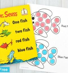 Red Fish Blue Fish Activity [ 900 x 900 Pixel ]