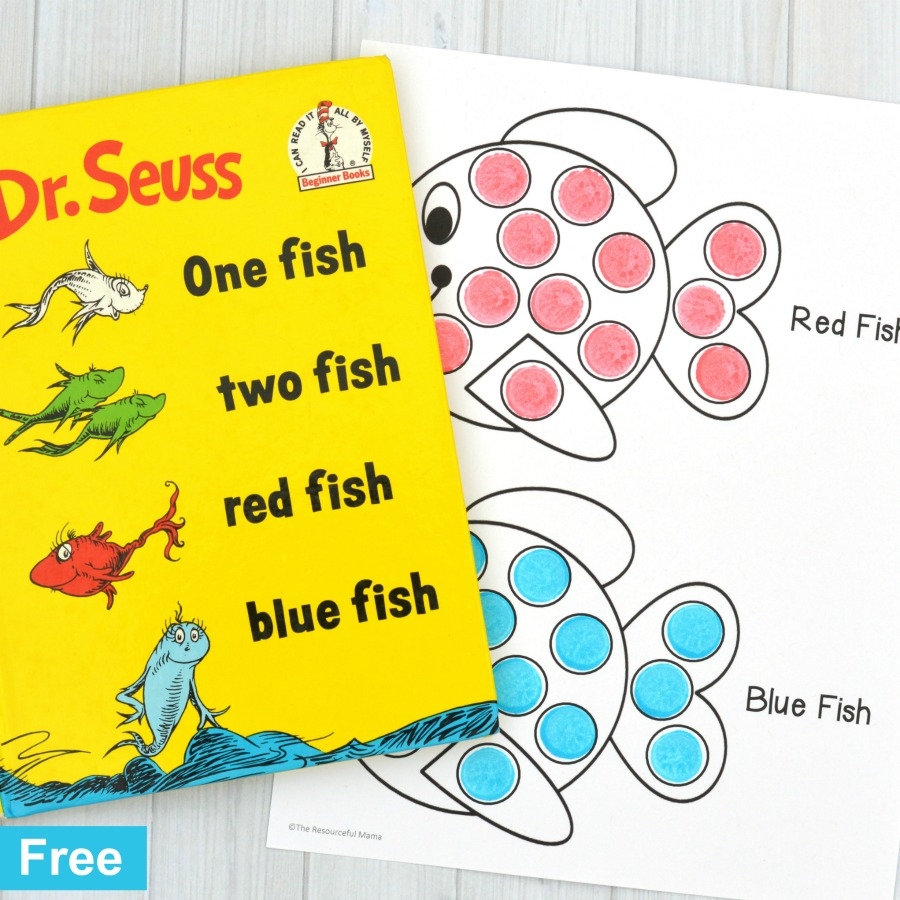 hight resolution of Red Fish Blue Fish Activity