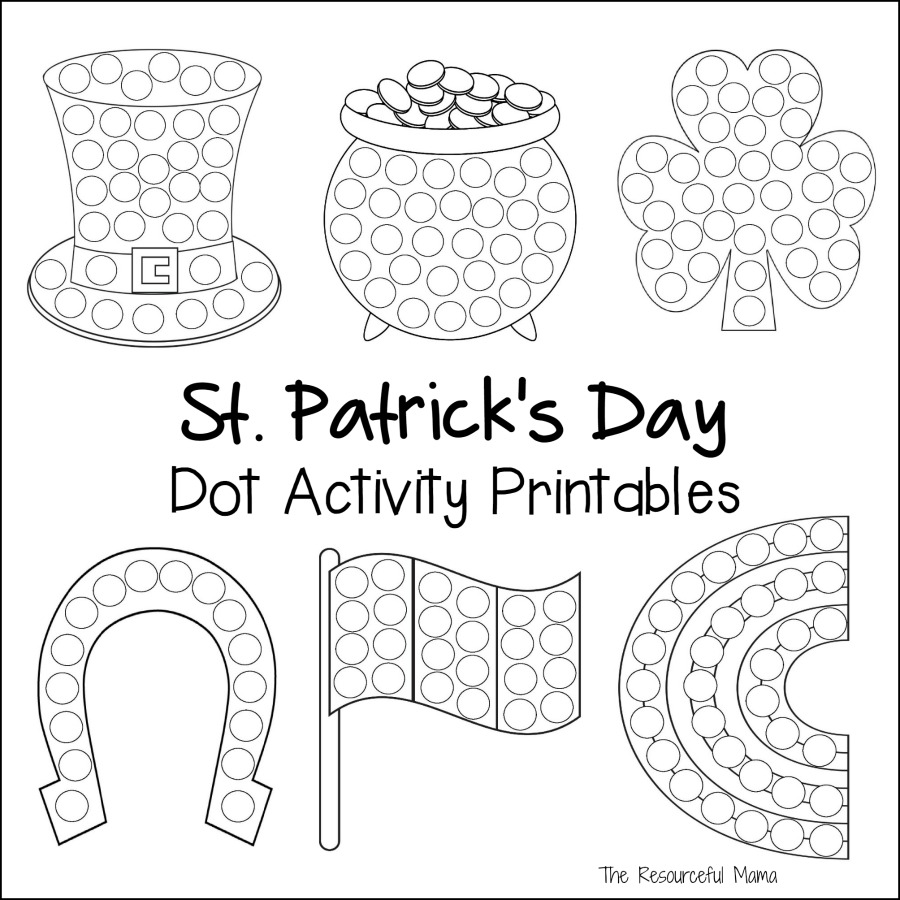 medium resolution of St. Patrick's Day Dot Activity Printables - The Resourceful Mama