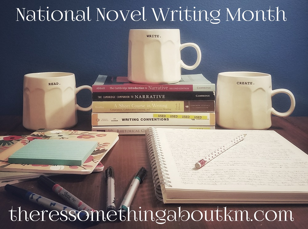National Novel Writing Month   NaNoWriMo   There's Something About KM