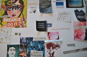Layout of Vision Board