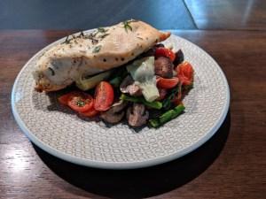 Mediterranean chicken and vegetables