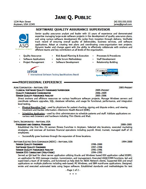 qa manager resume senior software qa manager resume new jersy nj