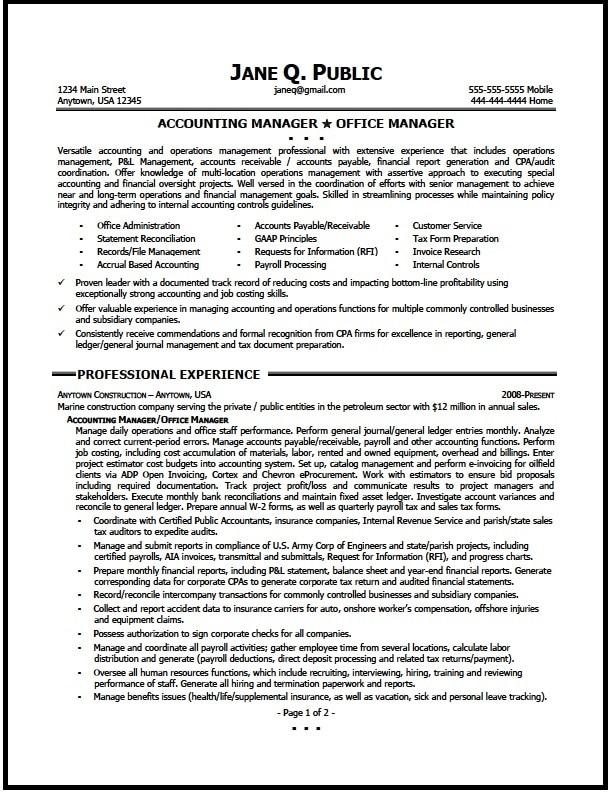 resume sample account executive