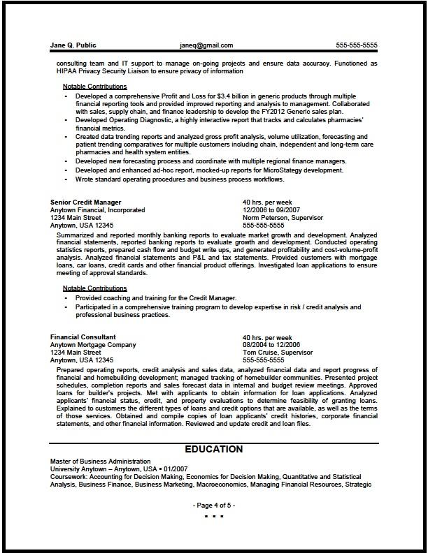 Finance Resume Examples Corporate Corporate Finance Leadership