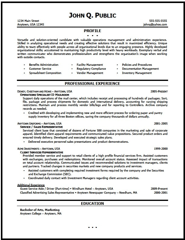 operations manager resume sample the clinic - Payroll Operation Manager Resume