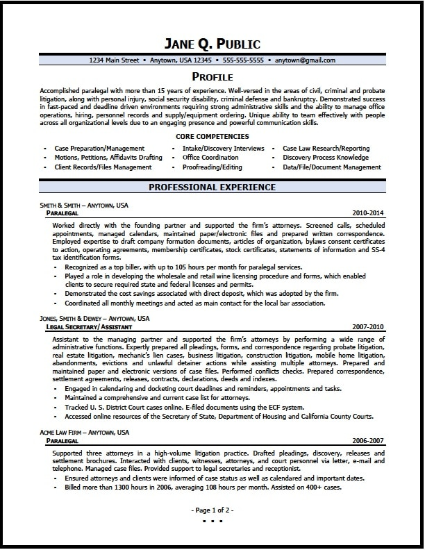 Paralegal Resume Objective Examples Extraordinary Paralegal  Paralegal Resume Objective