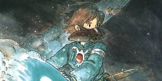 The Cover of the fourth volume of Nausicaa of the Valley of the Wind
