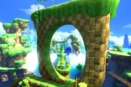 Green Hill Zone Modern Sonic Act - Sonic is Launched through one of the zone's Iconic loop the loops