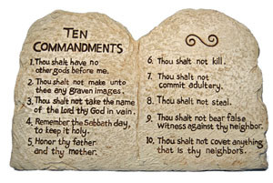 Image result for original ten commandments