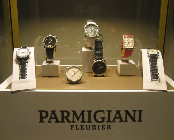 Swiss-watches-on-display-from-sponsor-Parmigiani-Fleurier