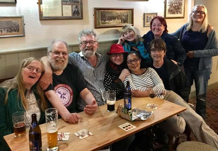 Colm Daly and friends at The Retreat pub in Reading
