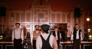 four men in a pub