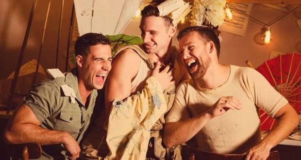Three Men Laughing