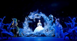 Elisha Willis as Cinderella and Victoria Marr as the Fairy Godmother with Artists of Birmingham Royal Ballet