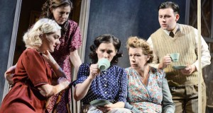 Chloe Harris as Betty, Aisling Loftus as Joan, Vicky McClure as Sandra, Esther Coles as Mary and George Boden as Johnny in Touched