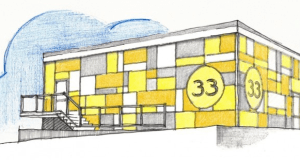 artists impression of venue 33 The Pleasance Edinburgh Fringe