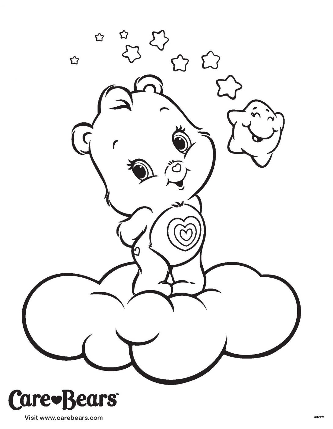 Care Bears Care-a-Lot! {Wonderheart Coloring Page}