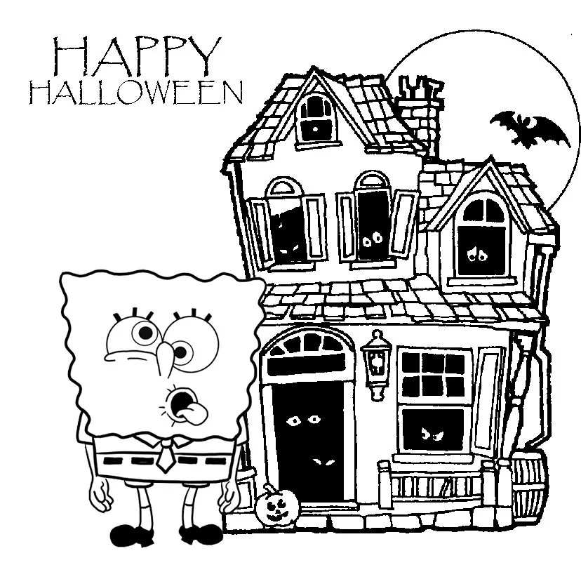 SpongeBob DVD: Ghouls Fools + A Halloween Coloring Page