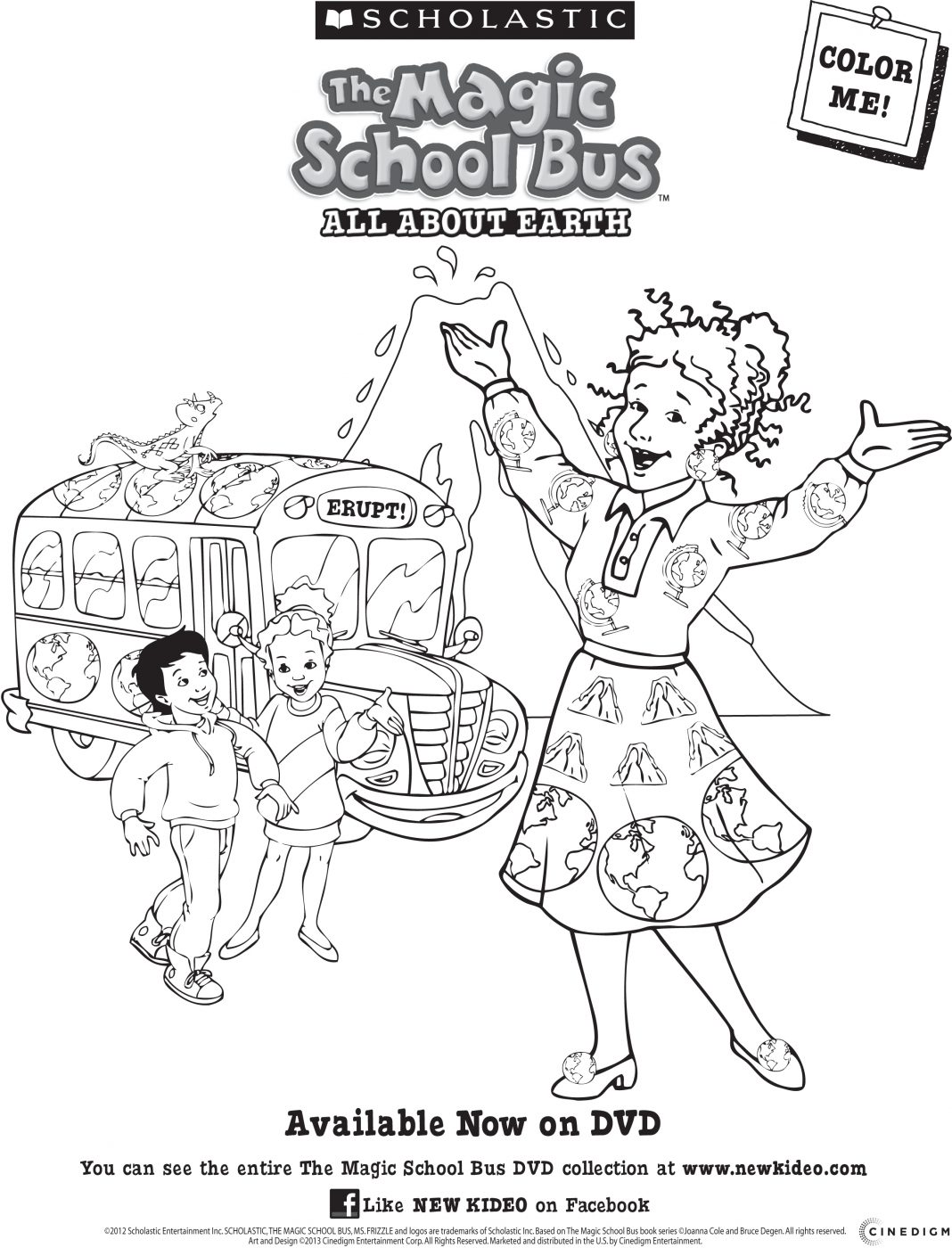 Magic School Bus: All About The Earth DVD