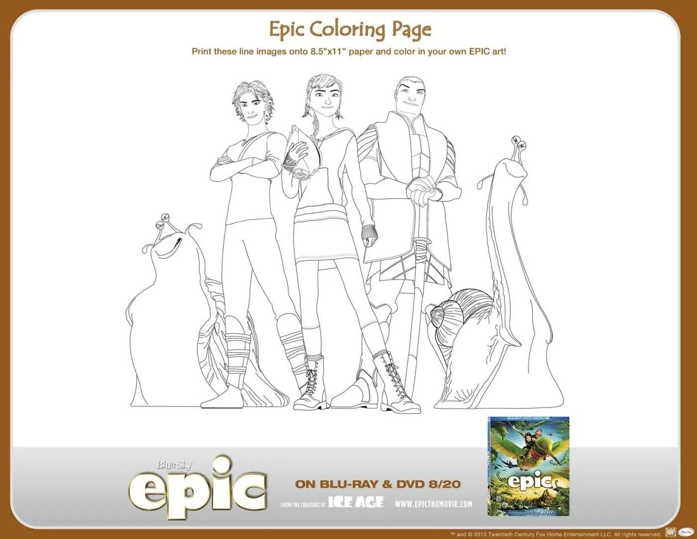 Epic Printable Activities