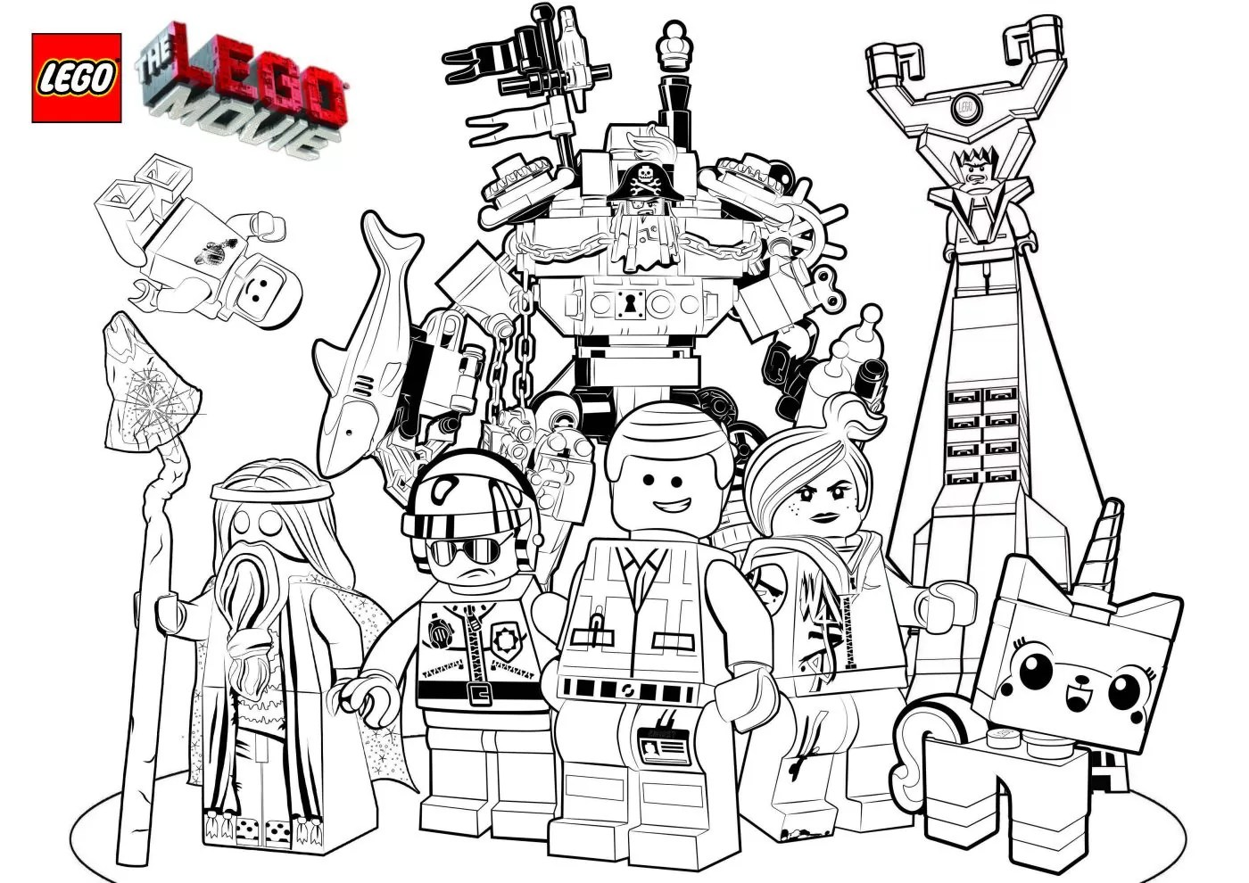 The Lego Movie Coloring Pages LEGO Face Mask
