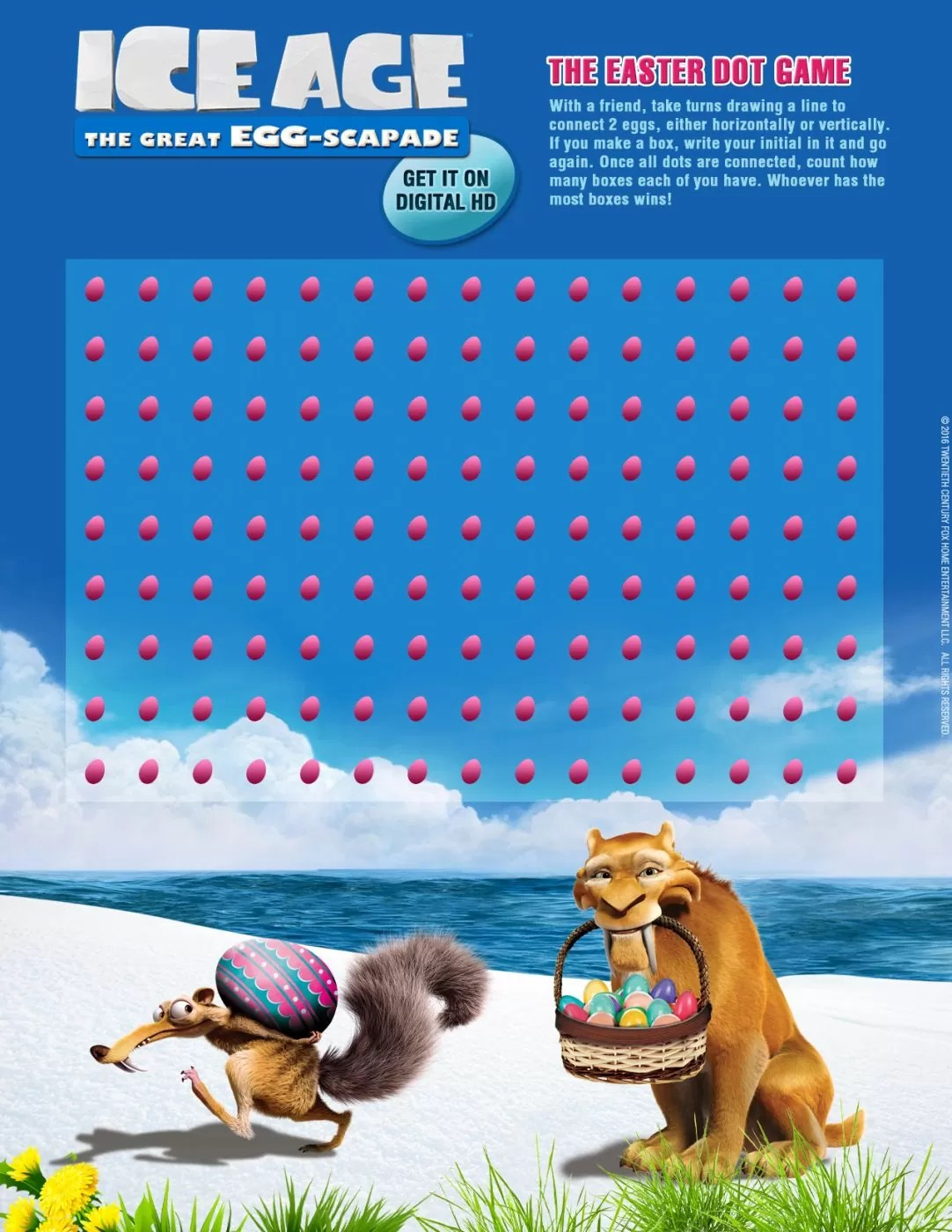 Ice Age The Great Egg Scapad Printable Activities