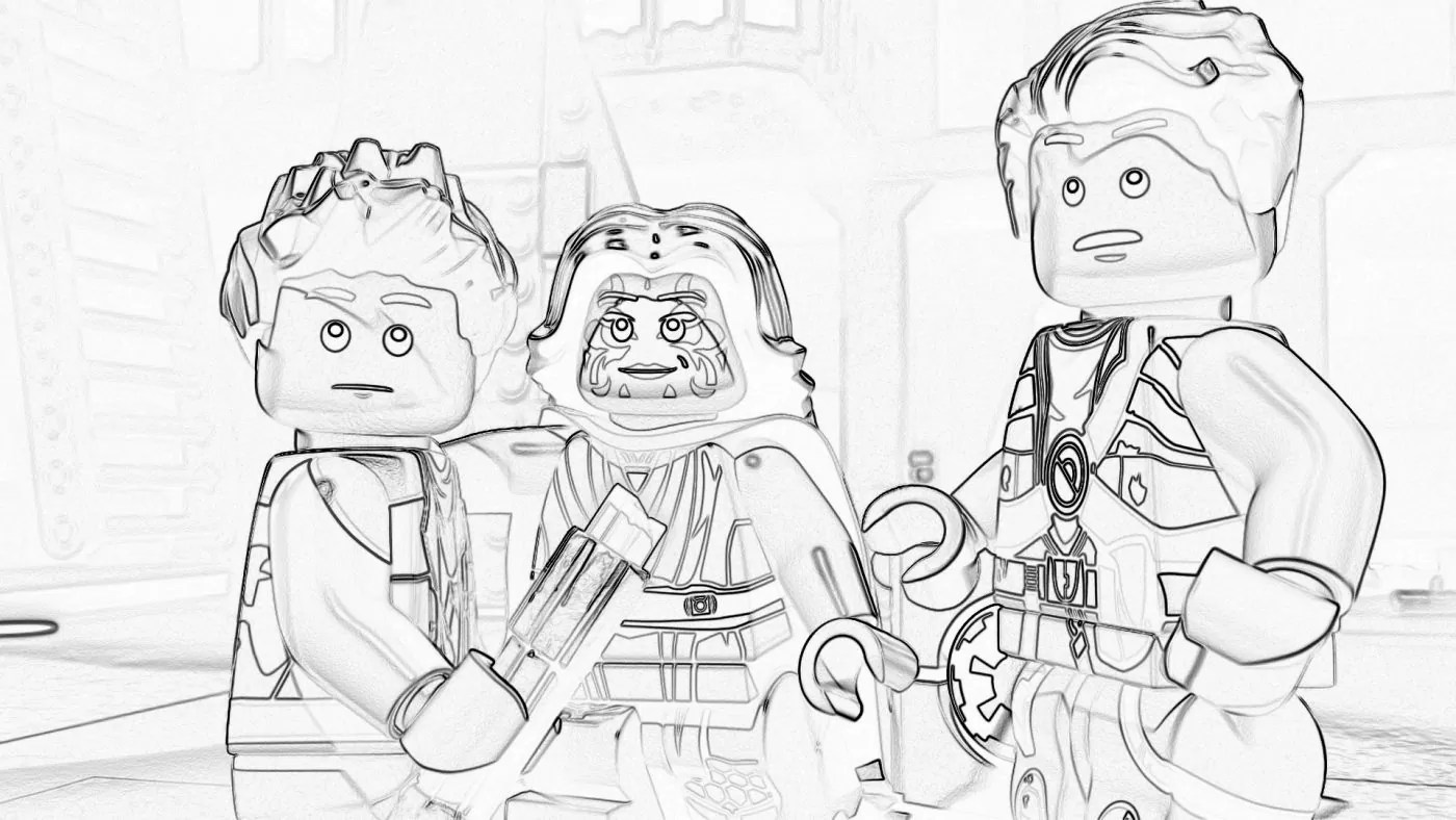 LEGO Star Wars Coloring Pages: The Freemaker Adventures