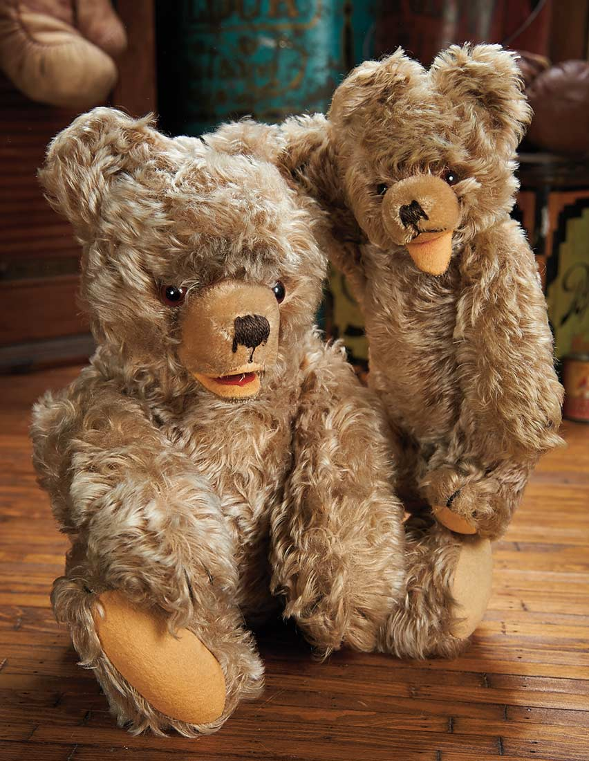 The Blackler Collection Part 2 of 2Vol set 316 Two Vintage German Mohair Teddy Bears by