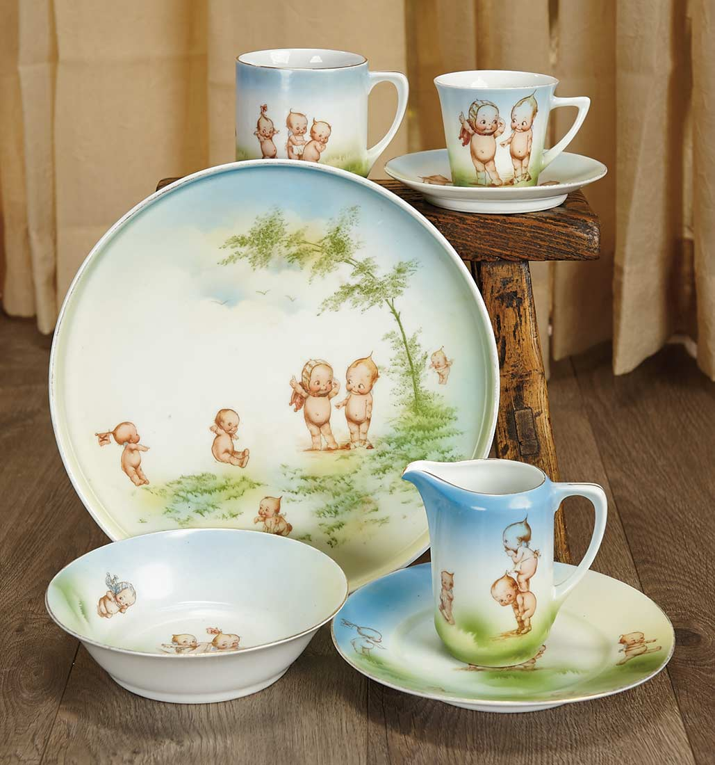 Sanctuary: 304 German Porcelain Dishes with Kewpie Themes