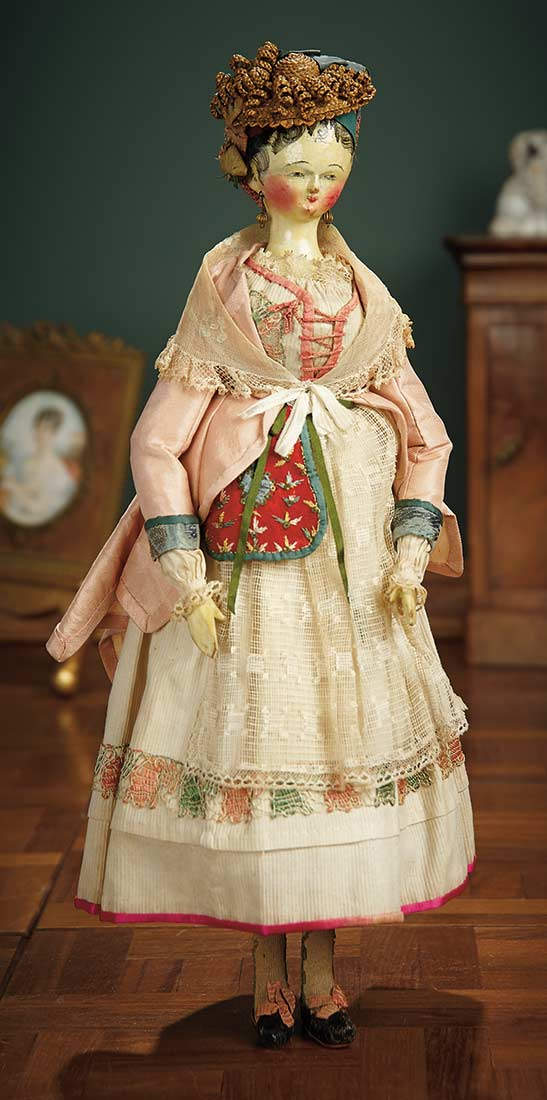 For the Love of the Ladies 4 Early Grodnertal Wooden Doll