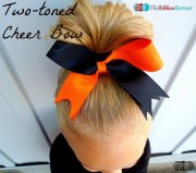 two-toned cheer bow - ribbon