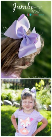 jumbo hair bow tutorial - ribbon