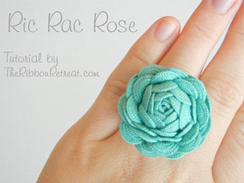 ric rac ribbon ring