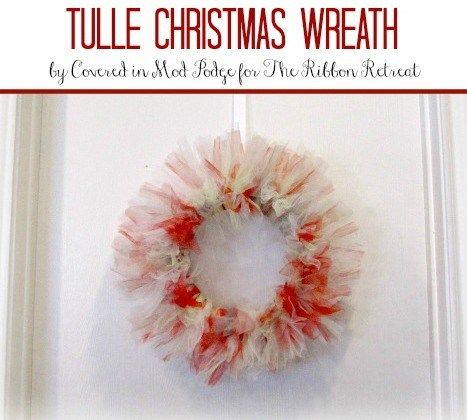 tulle christmas wreath the ribbon retreat blog