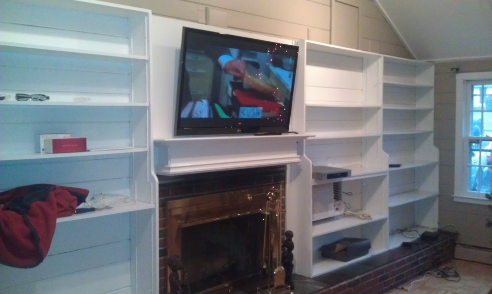 medium resolution of bloomfield ct tv over fireplace with wires outside of wall 1