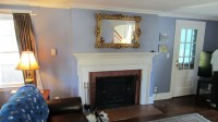 Bristol, CT  TV over fireplace with wires concealed to ...