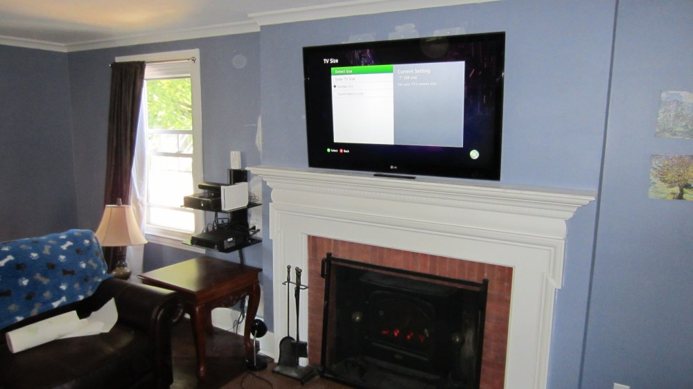 medium resolution of bristol ct tv over fireplace with wires concealed 7