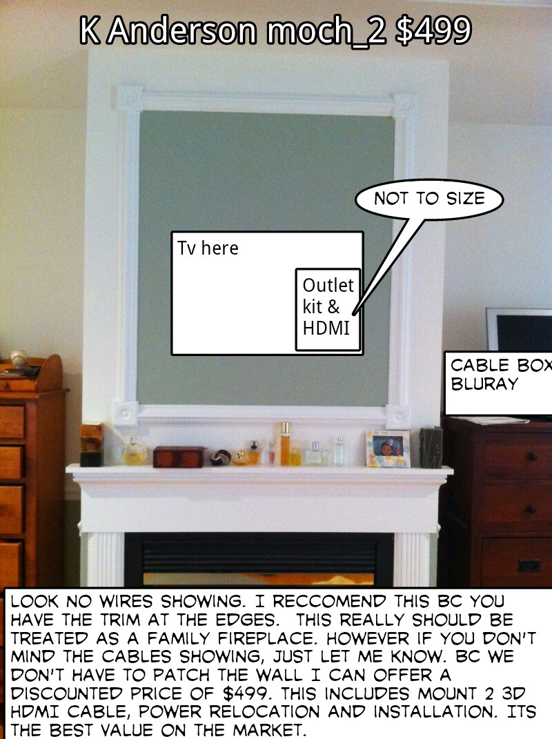 Wiring Solutions For Wall Mounted Tv Over Fireplace