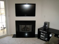 Woodbury CT mount tv above fireplace | Home Theater ...