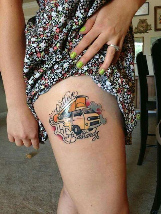 Le top des tattoos inspirs du combi van Volkswagen