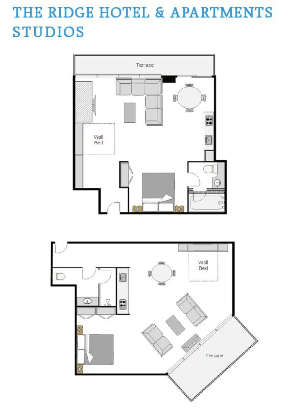Studio Rooms Floor Plan The Ridge Hotel And Apartments