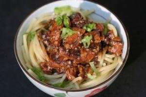 Minced Chicken in Black Bean Sauce