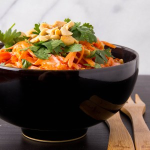 Carrot Salad with Miso-Peanut Dressing