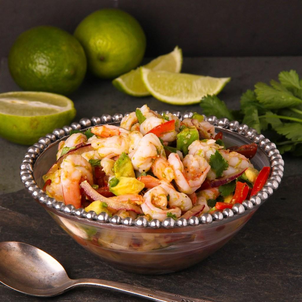 Fresh Shrimp Salad with Lime