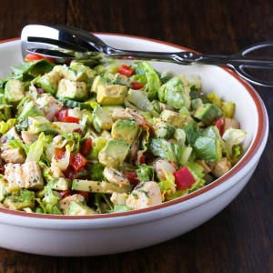 Chopped Salad with Lemon Chipotle Dressing
